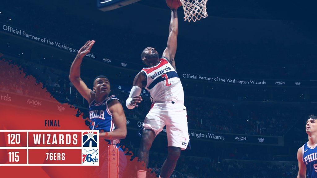 De Washington Wizards winnen de eerste match van het seizoen! #DCFamily #NBA https://t.co/ZCj0cPB79H