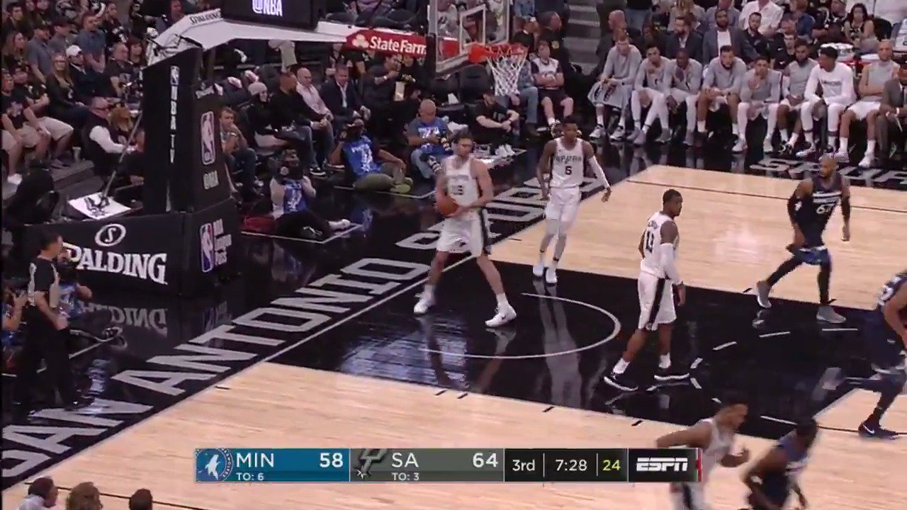 Wiggins has the jumper going for the @Timberwolves! 12 PTS in Q3 so far!  ��: ESPN https://t.co/bsNoqiUGXS