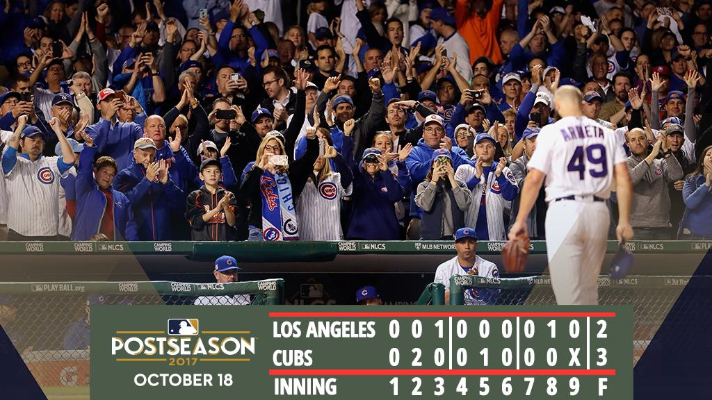 #Cubs beat #Dodgers & Co. to force Game 5.   Recap: https://t.co/kDpa9qZxoI #FlyTheW https://t.co/A0quc2obZh