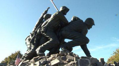World War II Memorial Defaced ByVandals