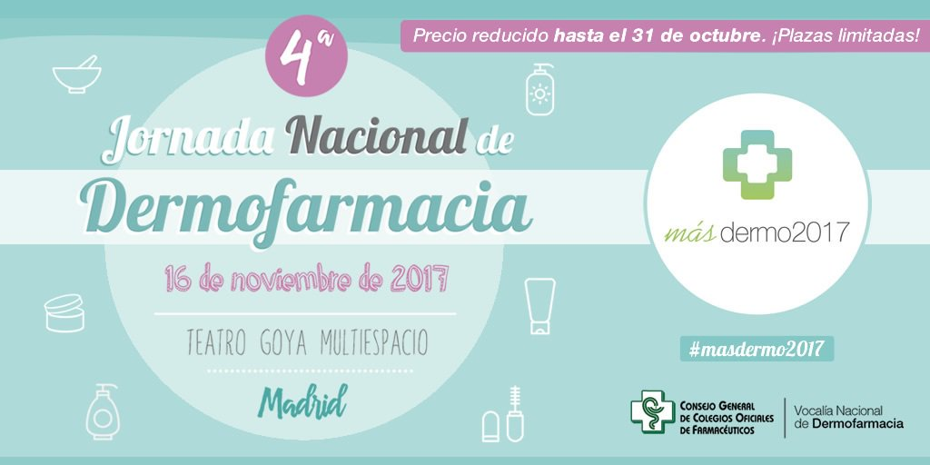 test Twitter Media - 4ª Jornada Nacional de Dermofarmacia. https://t.co/A3i3AFOzNd Vía: @Portalfarma https://t.co/fejS7pmaP3