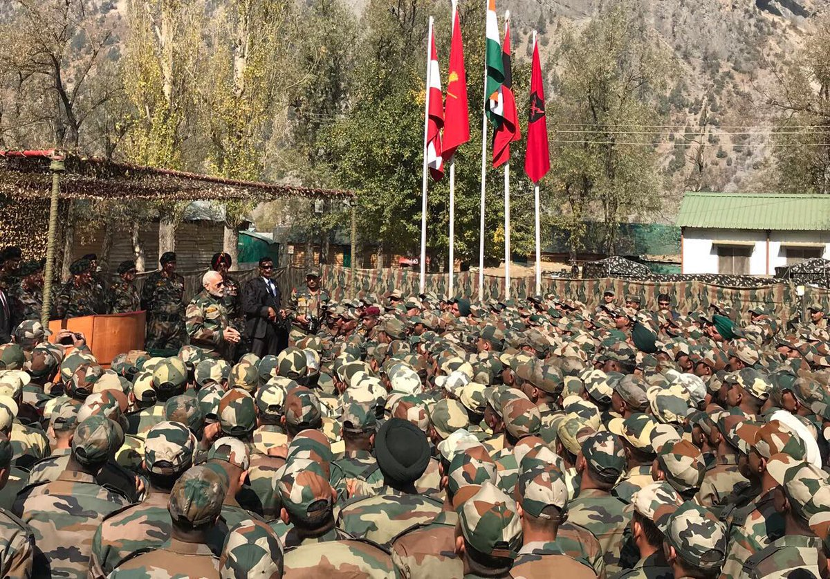 Glad to have celebrated Diwali with our brave Army and BSF Jawans in the Gurez Valley, Jammu and Kashmir.