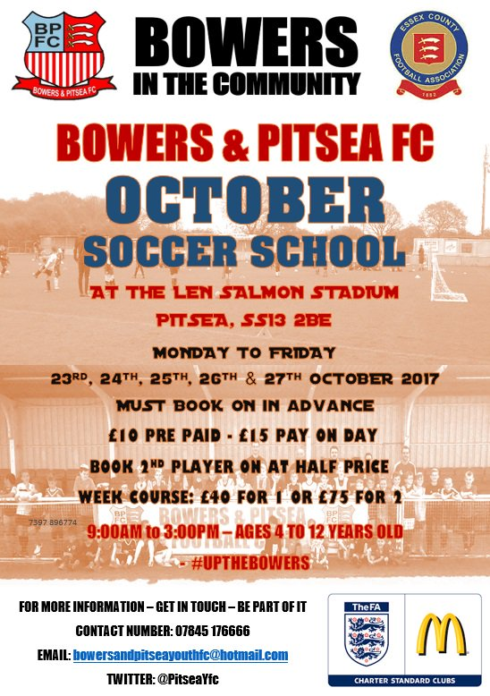 test Twitter Media - RT @PitseaYfc: @EversleyP - October Soccer School - Be part of it - #UPTHEBOWERS https://t.co/IX2XKLe5Hf