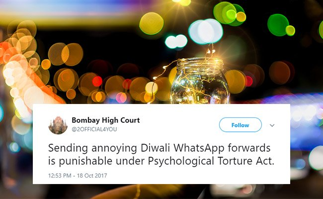On Diwali, 10 Witty Tweets Celebrating The Festival Of Lights