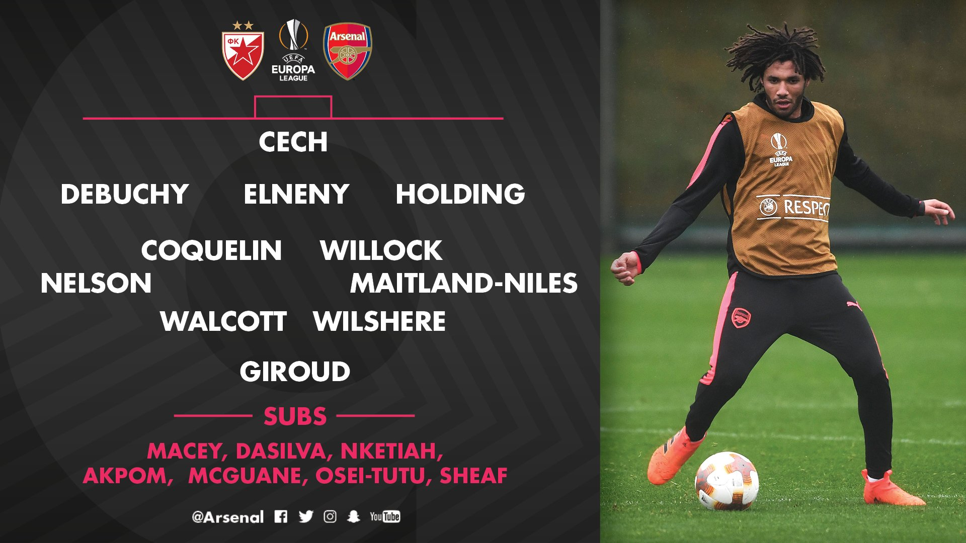 Here it is - our team for #RSBvAFC �� https://t.co/PaQpEDB3IM