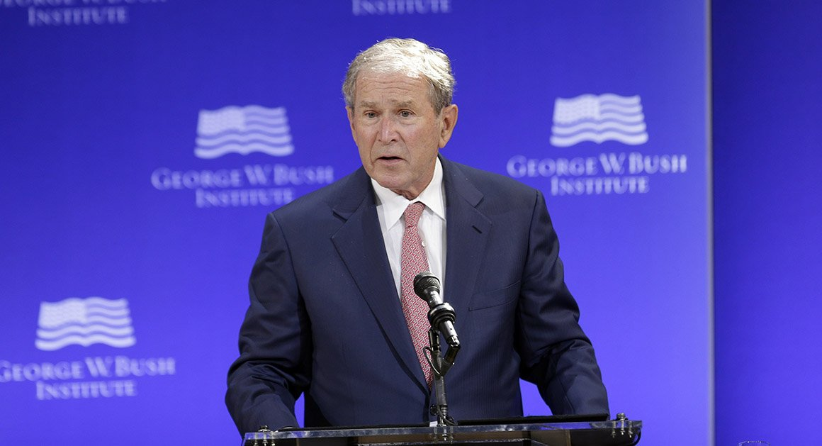 George W. Bush slams Trumpism without mentioning the president by name https://t.co/FFBzK9h3VX https://t.co/vj06xy5WEa