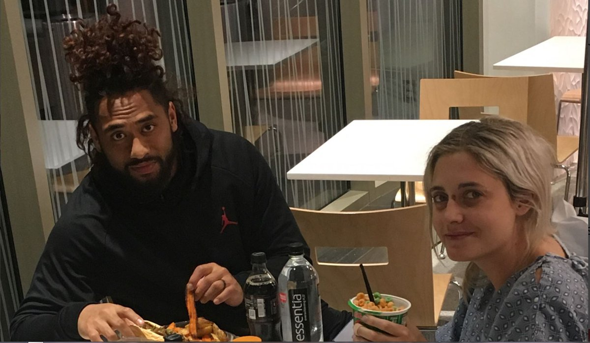 Harvey Langi's wife shares an emotional update after the couple's car accident