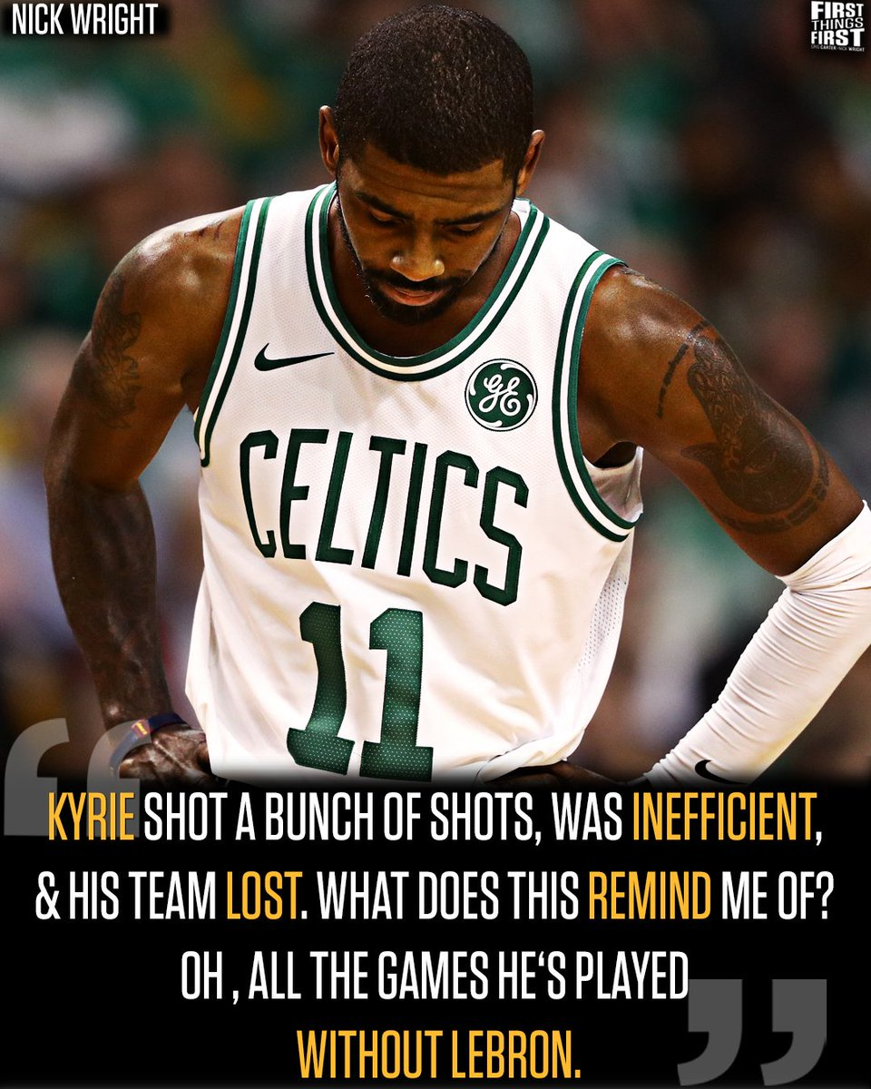 RT @FTFonFS1: Kyrie without The King is not the same Kyrie. https://t.co/TjGZ6anuF2