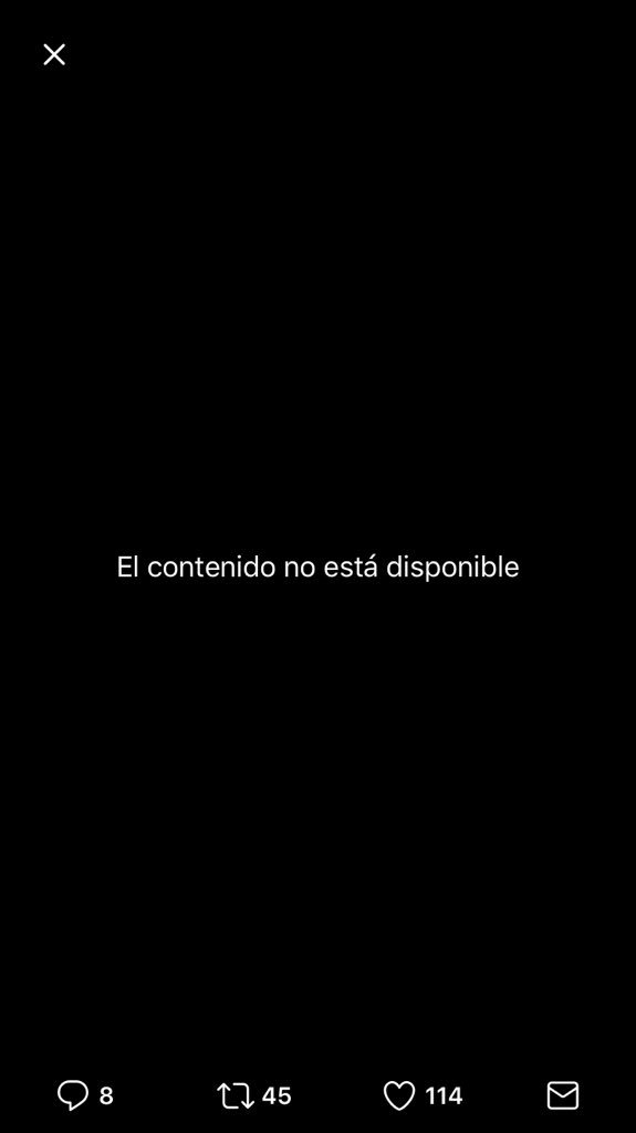 @CarlosAlvQ #Yocreo que el vídeo no está disponible joven 🤷🏾♂️ https://t.co/lB9suv20Kk