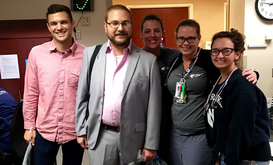 man's trip to the hospital puts wedding on hold for a day