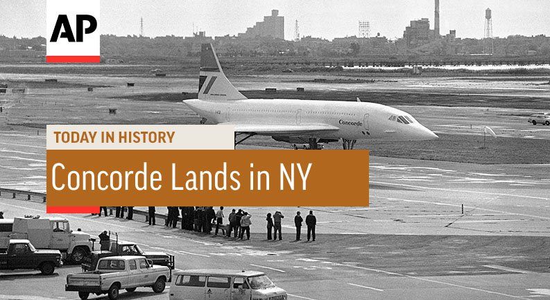 Concorde Inaugural New York Flight - 1977 | Today In History | 19 Oct 17