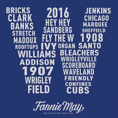RT @fmchocolate: Hey chocolate fans, it's time to rally for our Cubbies! #nlcs #thatscub #chicagoschocolate https://t.co/mKbcgwFWly
