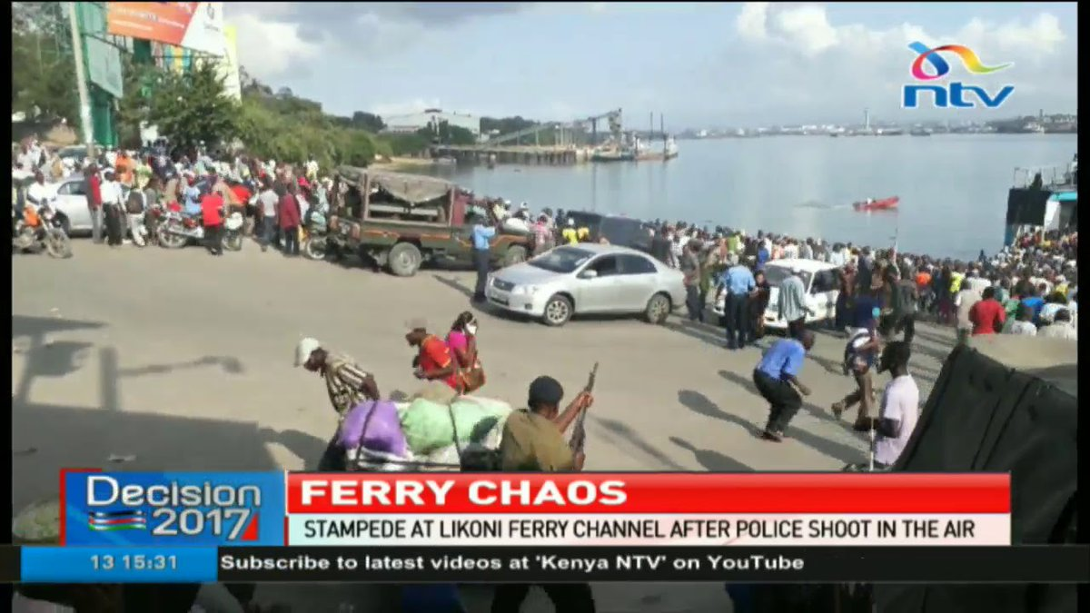 Stampede at Likoni ferry after police shot in the air