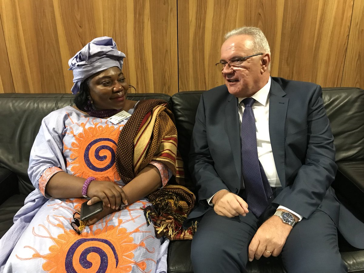 test Twitter Media - Glad to meet the @_AfricanUnion Commissioner for Science and Technology Sarah Anyang Agbor. Lots of common priorities in those areas! #AUEU https://t.co/WdFEtAVs3S