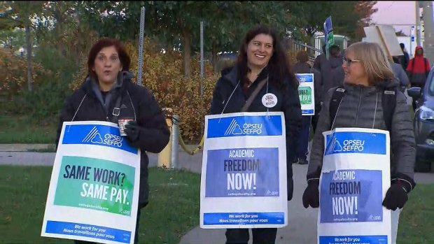 Striking faculty at Seneca College to hold rally