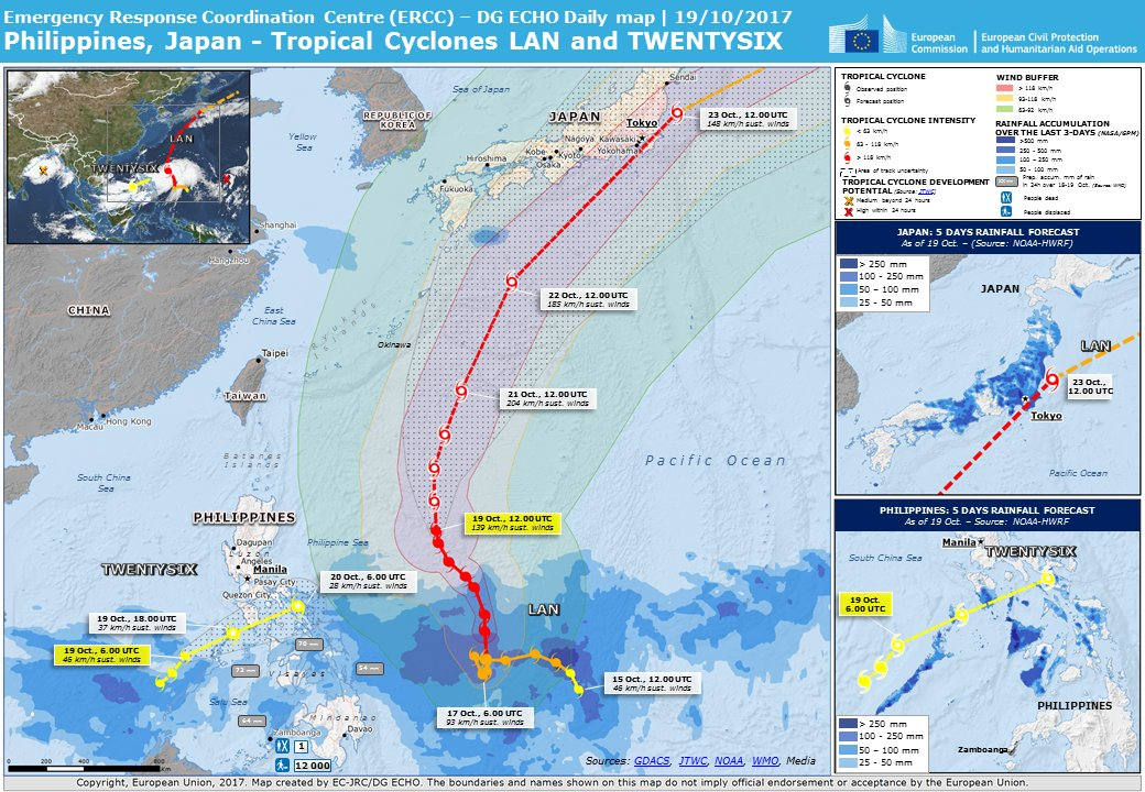 test Twitter Media - #Philippines/#Japan | Tropical Cyclones Lan and Twentysix | Projected course and #weather forecast https://t.co/9FgzvekRRy
