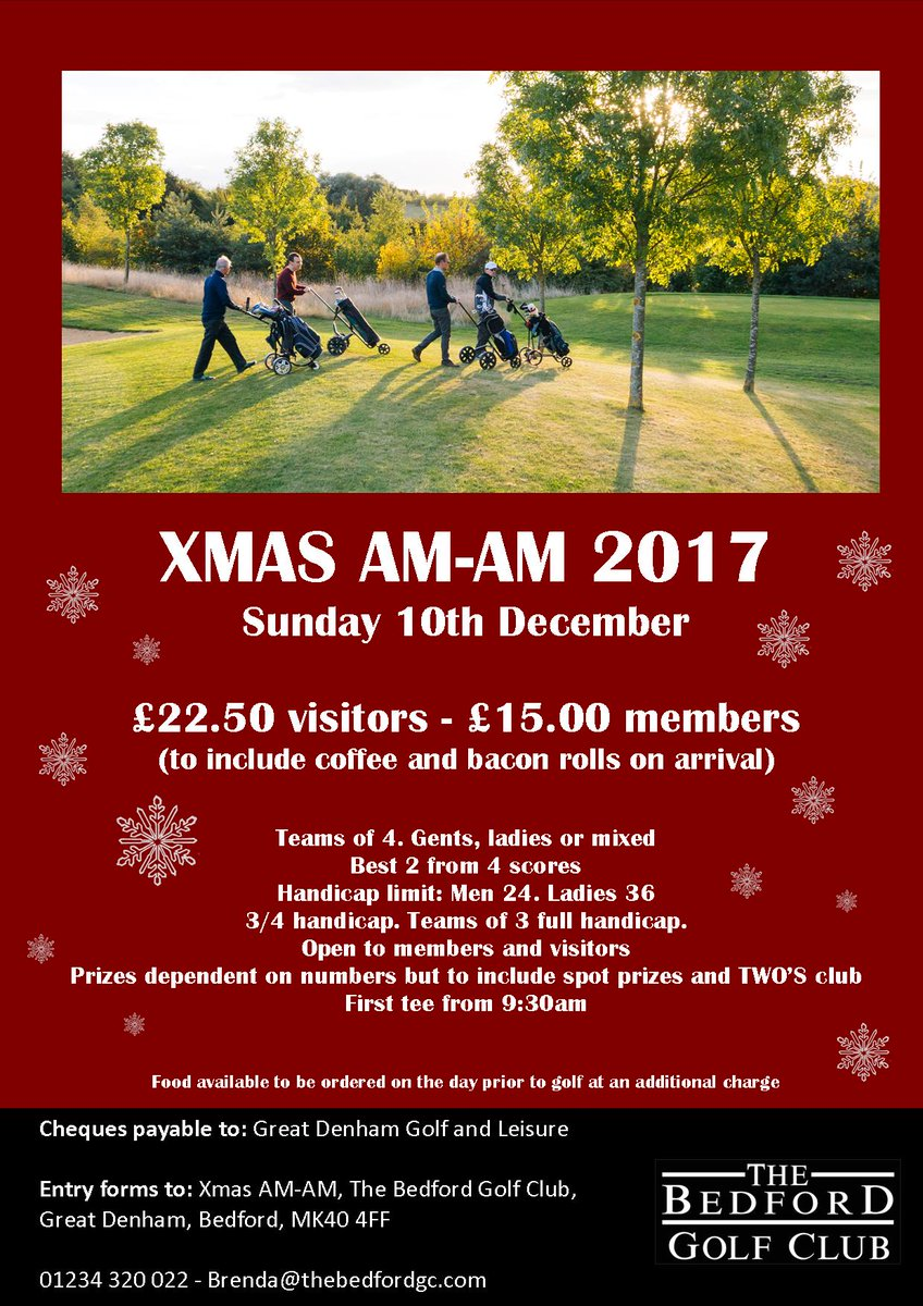 test Twitter Media - Join us @thebedfordgc on Sunday 10th December for our #XmasAMAM https://t.co/AGe4gz9Ulg