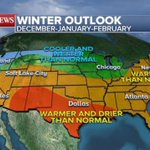 Winter weather forecast shows colder, wetter North and warmer, drier South