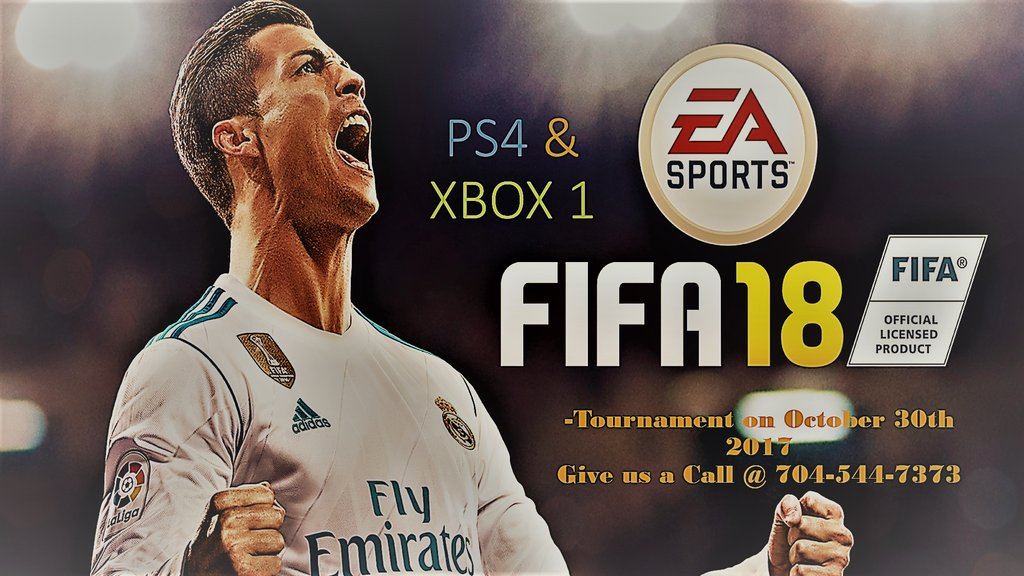 Fifa 18 is happening @ our pineville location on October 30th 2017 our spots are limited so call 704-544-7373 for registration  #ps4 #xbox1 https://t.co/ivqQQJlU4g