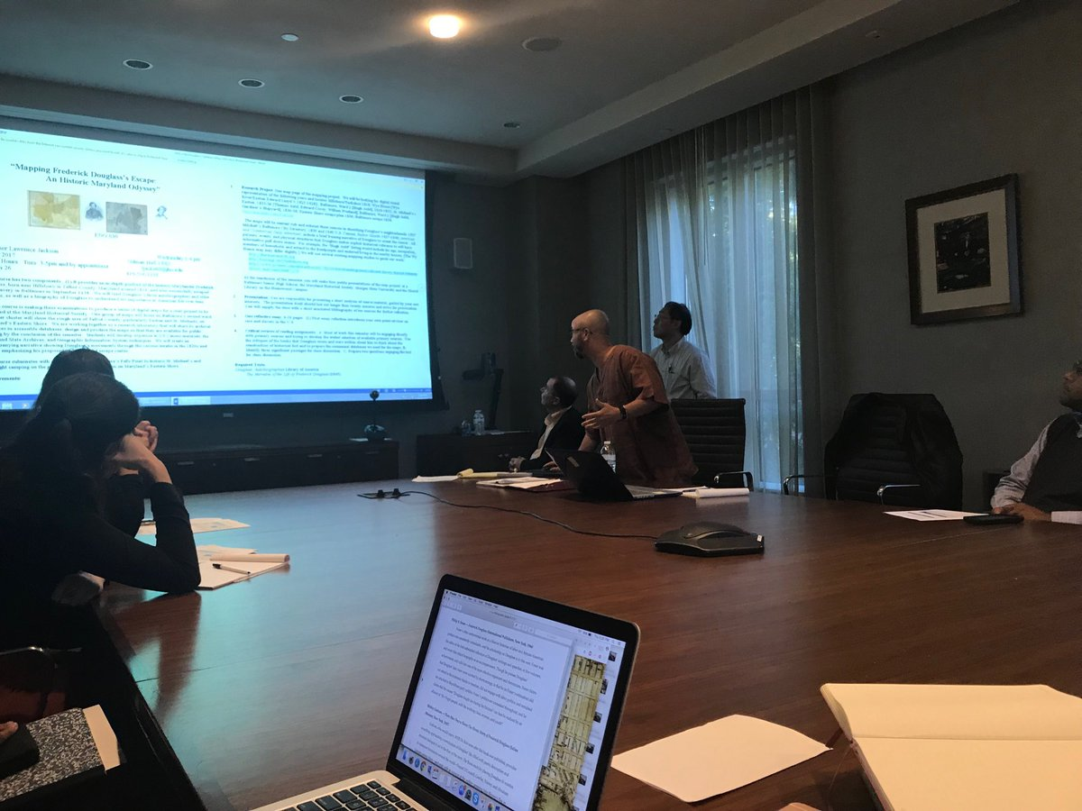 RT @TamsynMedieval: Prof Lawrence Jackson presents on Mapping Frederick Douglass. @mselibrary @JohnsHopkins https://t.co/DmAAJqUpIQ