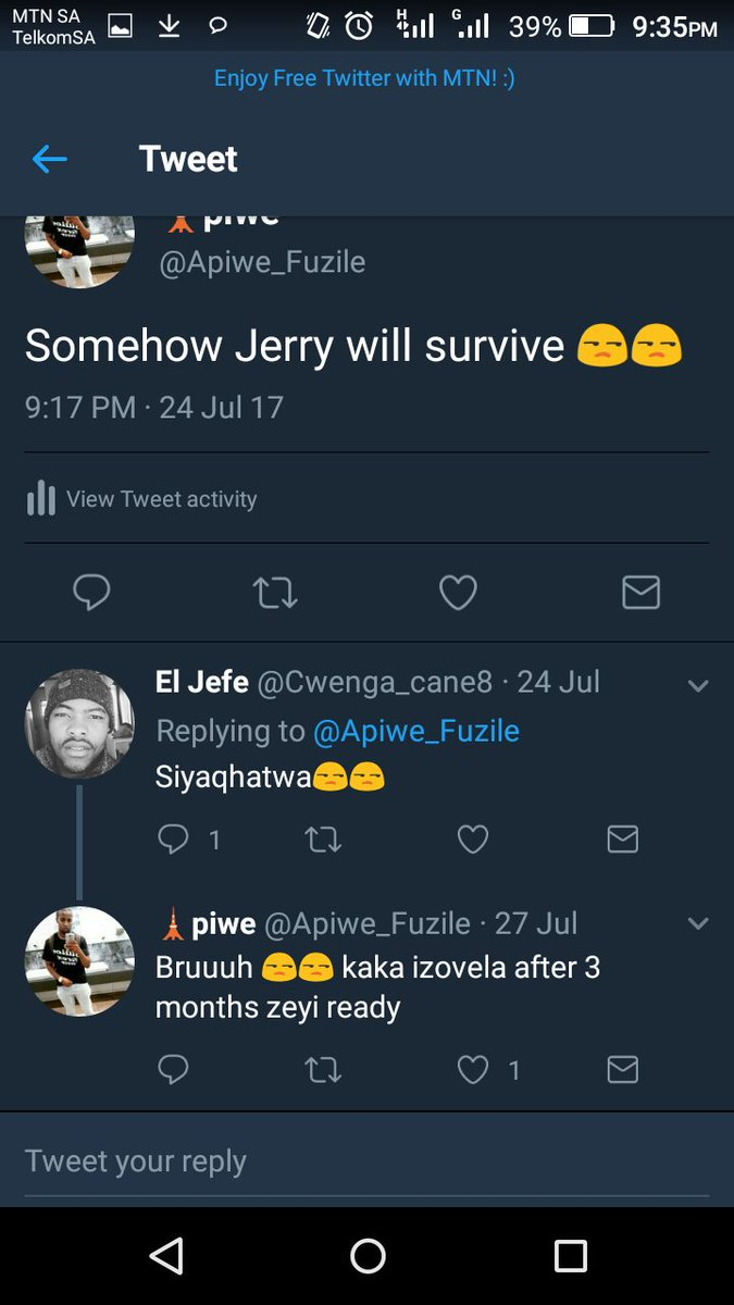 RT @Apiwe_Fuzile: #TheQueenMzansi I knew Jerry would come back 😂😂😂😅angekhe https://t.co/kxc8XYlOJ8
