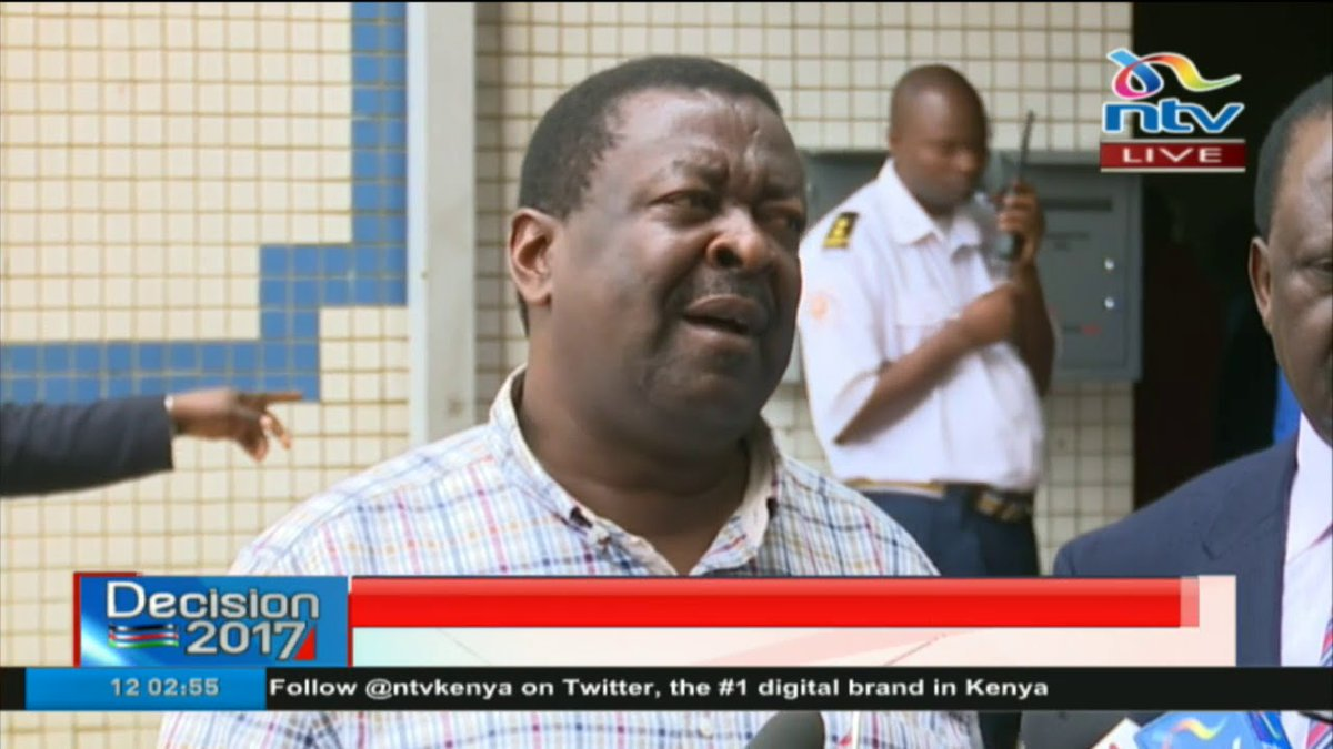 Mudavadi: 26th is not a conducive date for a free fair election