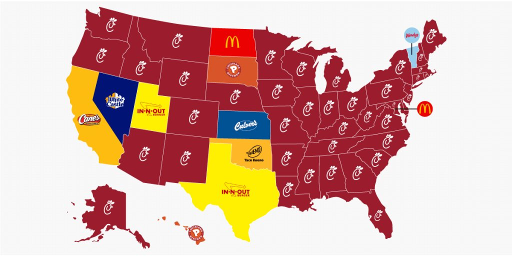 These are the most popular fast food chains in every state — and America has a clear winner https://t.co/zR1HYN5dvo https://t.co/u5OG9nZQOs
