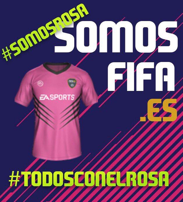 RT @SomosFIFA_es: Hoy todos #SomosRosa #DíaMundialdelCáncerdeMama #SumateAlRosa #SomosFIFA #FIFA18 https://t.co/r9IHAj2PvK