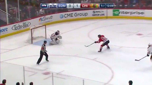 RT @EdmontonOilers: Cam was the man on this Toews breakaway! #LetsGoOilers https://t.co/EP5HykO4Iq
