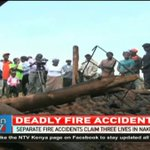 Separate fire incidents claim three lives in Nakuru county