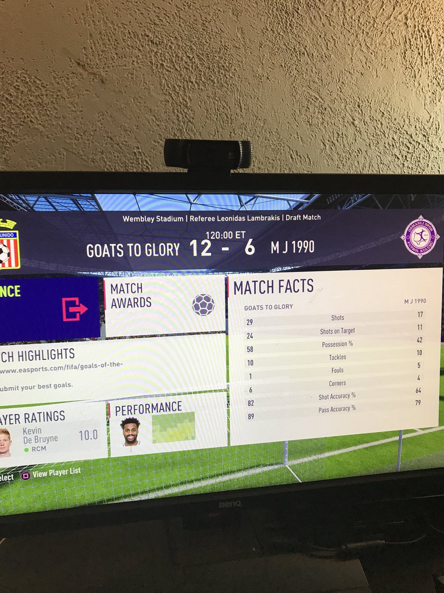 RT @Castro1021: Totally regret not recording gameplay for this game......  About 11 kick off goals lol. https://t.co/Qn0DauY2eV