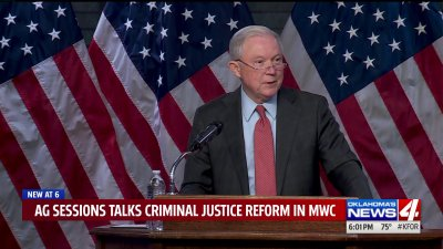"""""""It's a crime problem,"""" AG Sessions talks criminal justice reform in Midwest City"""