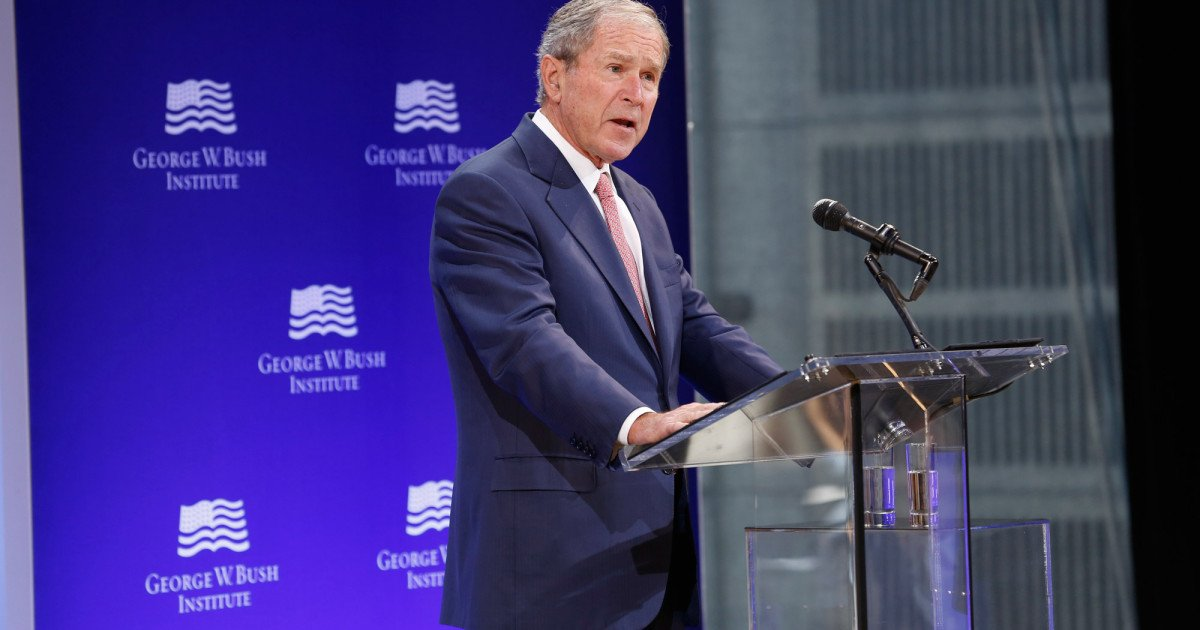Without ever mentioning his name, George W. Bush slams Donald Trump