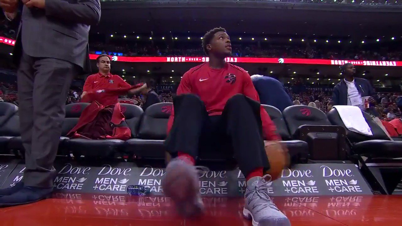 Getting the handles ready for Game number 1 of the @Raptors season!  WATCH: https://t.co/iFOPnI0alj https://t.co/PS5sbj0LRN
