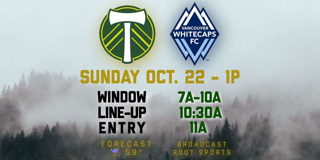 RT @PTFCLineCulture: Wristband information for #PORvVAN : Headed down early? Prepare for heavy rain & wind.  #RCTID https://t.co/oGKG8cT3vw