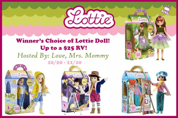 Winner's Choice of Lottie Doll Giveaway!