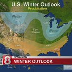 Winter weather forecast shows colder, wetter North and warmer, drier South - Dauer: 38 Sekunden