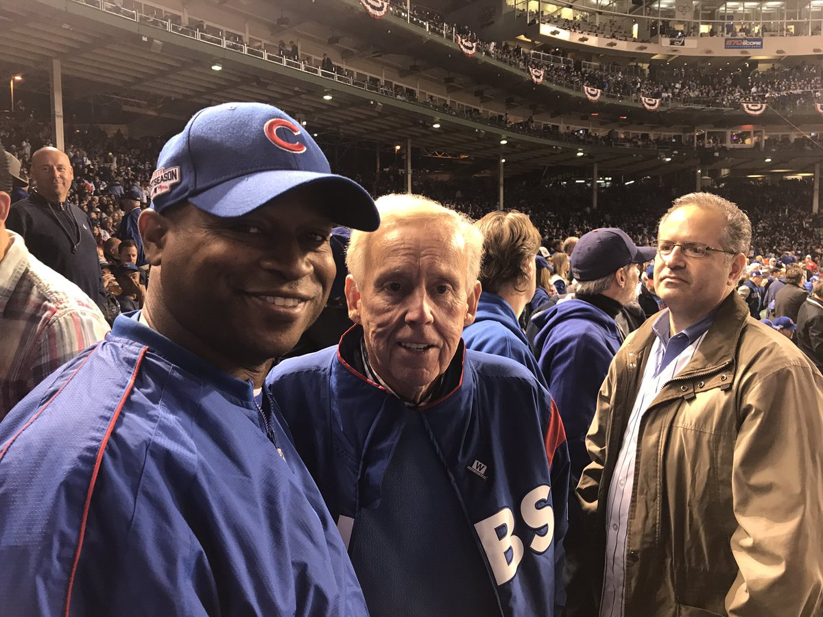 test Twitter Media - Good to see my old friend Terry Sullivan tonight.  Wish the result was better, but Congrats to our Cubbies on three consecutive NLCS trips. https://t.co/khVhXUkvxZ