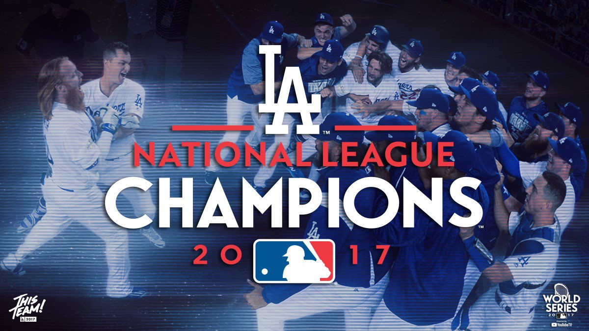 RT @Dodgers: #ThisTeam is going to the #WorldSeries!!!! https://t.co/jrQTnDp0Vn