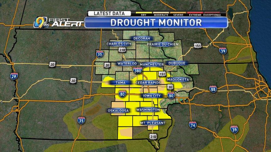 Recent rains improve the drought