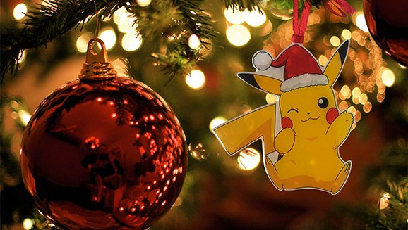 tweet-Purchase $25 of Pokemon products from Toys R Us starting October 29th and get one of three Pikachu ornaments. https://t.co/2GwIwvhEyw