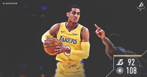 PLEASE LET NIGGAS KNOW THAT YOU THE REAL KILLER ON THIS TEAM. @Lakers @JordanClarksons #LakerNation https://t.co/XCsRqwE0OZ