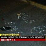 Woman shot at vigil for man killed at Shell gasstation