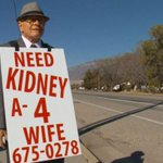 Devoted husband, 74, walks miles per day to find wife a kidney