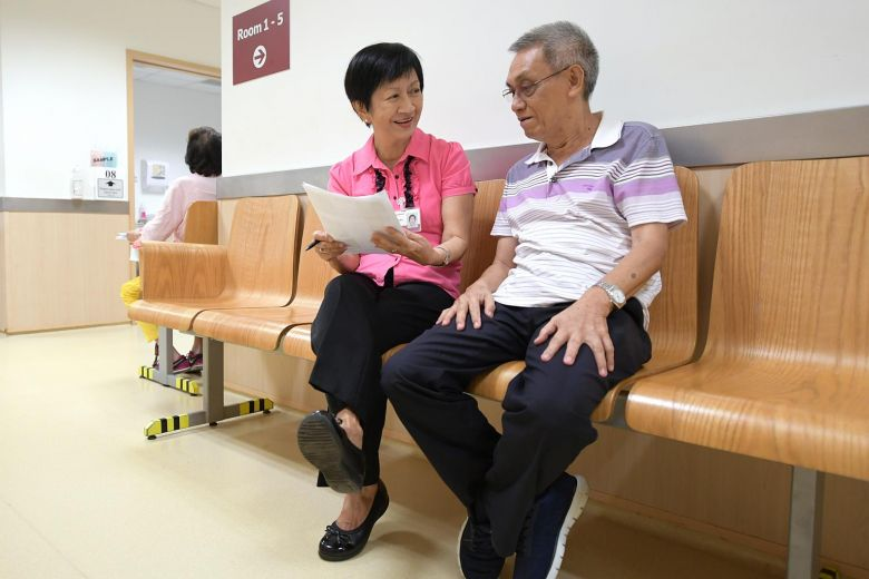 Volunteers give patients a helping hand at Tan Tock Seng Hospital