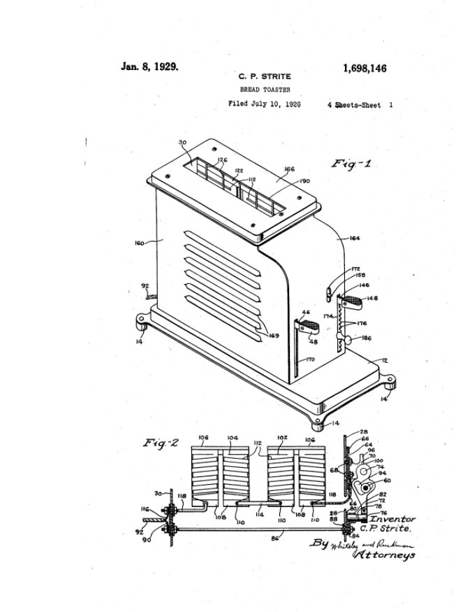 test Twitter Media - #patent #BreadToaster Jan. 8, 1929  #claim means for automatically opening said switch after a predetermined length of time https://t.co/63Tif2AhFb
