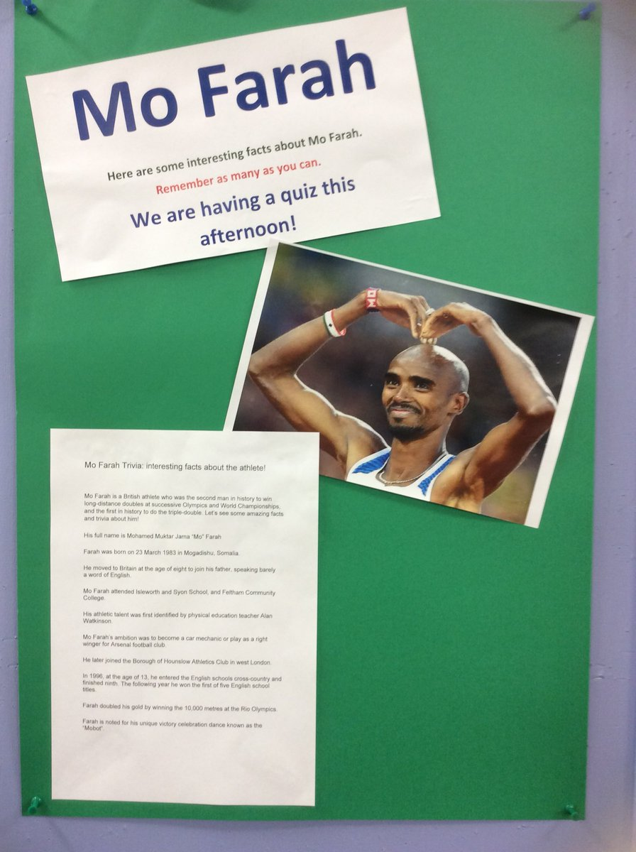 Quiz time in 6CB. Afro-Caribbean Sports Icon #mofarah #quizfun #mobotvictorydance https://t.co/bNGNitFqh5