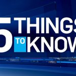 5 things to know on Friday, Oct. 20, 2017