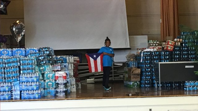 6th grade Maryland student collects 3,000 cases of drinking water for Puerto Rico