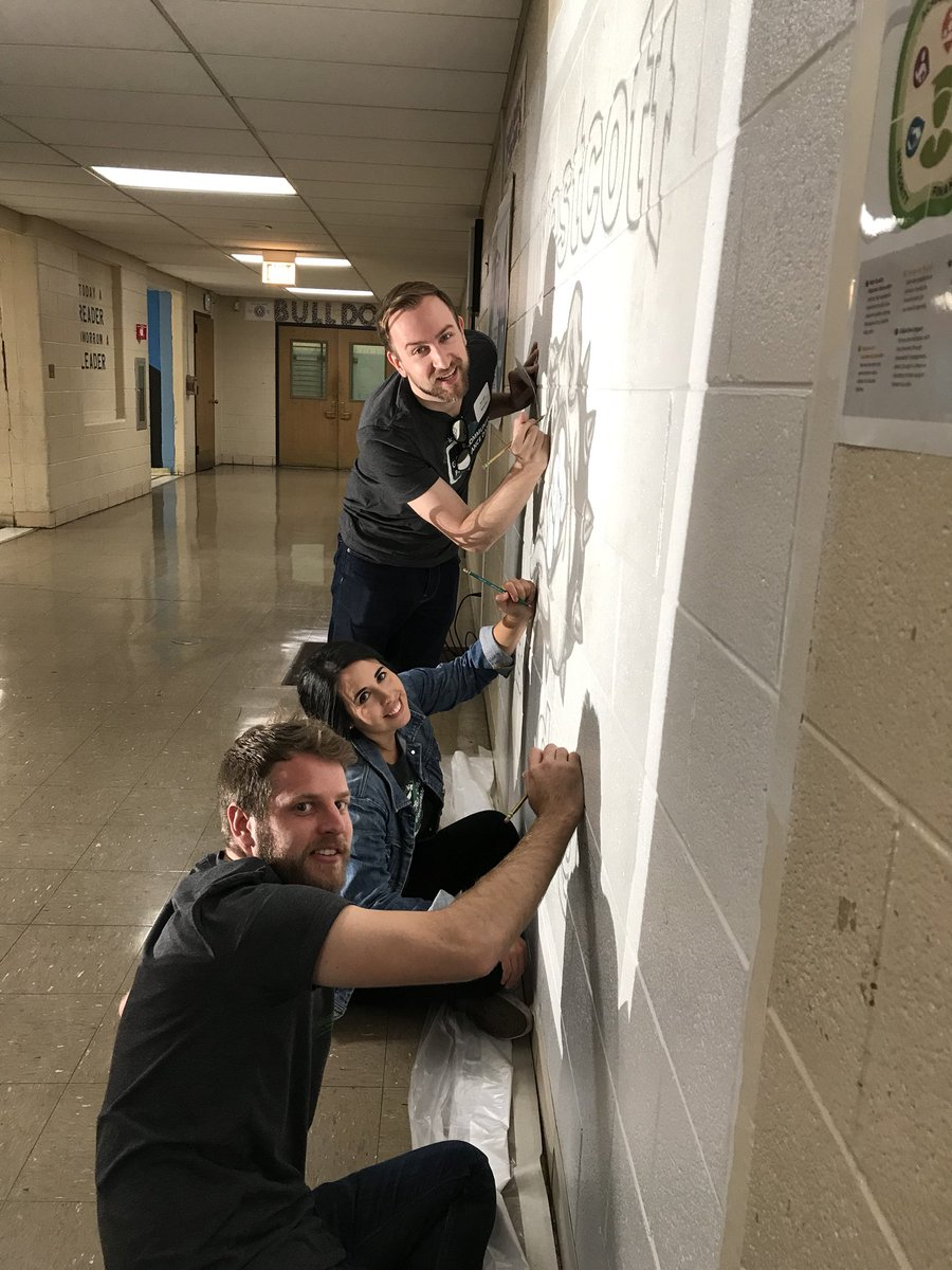 test Twitter Media - Working on a mural at Westcott Elementary! #performicshelps https://t.co/gLePGnC9NK